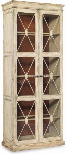 Sanctuary Two-Door Thin Display Cabinet - Dune