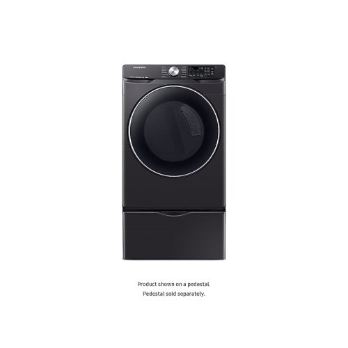 DV6300 7.5 cu. ft. Smart Electric Dryer with Steam Sanitize+ in Black Stainless Steel