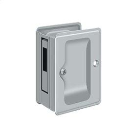 """HD Pocket Lock, Adjustable, 3 1/4""""x 2 1/4"""" Sliding Door Receiver - Brushed Chrome"""