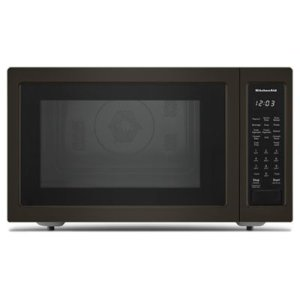 """KITCHENAID21 3/4"""" Countertop Convection Microwave Oven with PrintShield Finish - 1000 Watt - Black Stainless"""