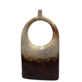 "Water Blue: Modern Arch Vase Large / 31"" H"