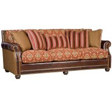 Julianna Leather/Fabric Sofa