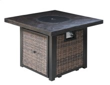 Square Fire Pit-black