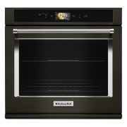 "Smart Oven+ 30"" Single Oven with Powered Attachments and PrintShield Finish - Black Stainless Steel with PrintShield™ Finish Product Image"