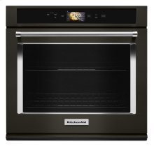"""Smart Oven+ 30"""" Single Oven with Powered Attachments and PrintShield Finish - Black Stainless"""