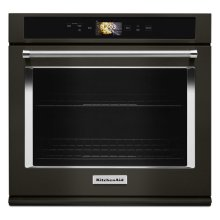 "Smart Oven+ 30"" Single Oven with Powered Attachments and PrintShield Finish - Black Stainless Steel with PrintShield™ Finish"