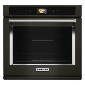 "KitchenaidSmart Oven+ 30"" Single Oven with Powered Attachments and PrintShield Finish - Black Stainless Steel with PrintShield™ Finish"