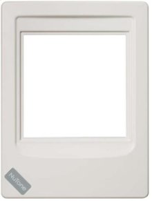 Indoor Remote Station Retrofit Frame, 7-1/2w x 10h, projects 1-1/4 off the surface in White
