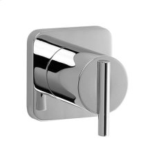 3/2 Diverter Valve & Trim - Lever Handle - Polished Chrome