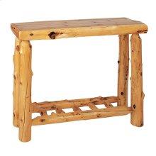 Sofa Table with Log Shelf