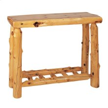 Sofa Table with Log Shelf