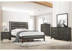 1060 Grant Queen Bed with Dresser and Mirror
