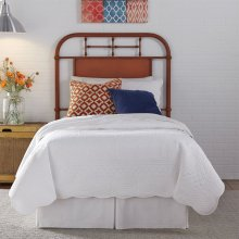 Twin Metal Headboard - Orange