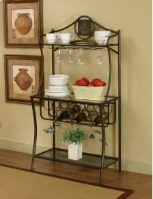 Sunset Trading Cappuccino Bakers Rack - Sunset Trading