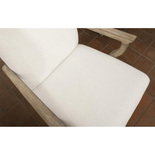 Sophie - Upholstered Arm Chair - Natural Finish