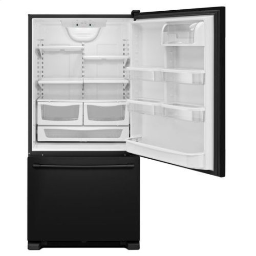 Maytag® 30-Inch Wide Bottom Mount Refrigerator - 19 Cu. Ft. - Black-on-Black