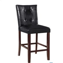 Ducey Black Upholstered Counter-height Stool