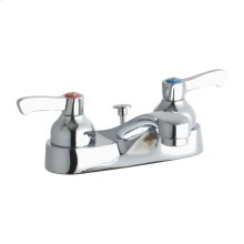 "Elkay 4"" Centerset with Exposed Deck Faucet with Pop-up Drain Integral Spout 2"" Lever Handles"