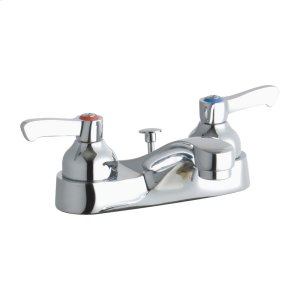 """Elkay 4"""" Centerset with Exposed Deck Faucet with Pop-up Drain Integral Spout 2"""" Lever Handles Product Image"""