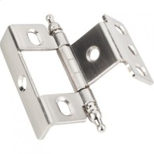 "3/4"" Frame x 3/4"" Door Flush Hinge Satin Nickel."