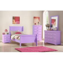 PINK 5 DRAWER CHEST