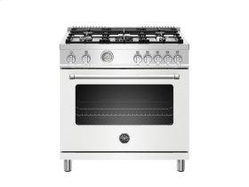 36 inch 5-Burner, Gas Oven Matt White