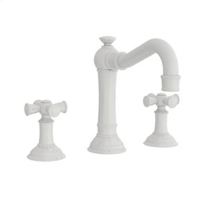 White Widespread Lavatory Faucet