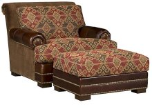 Barclay Leather Fabric Chair, Barclay Leather Fabric Ottoman