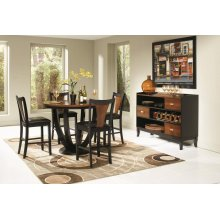 Boyer Transitional Amber and Black Five-piece Counter-height Dining Set