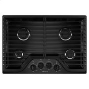 30-inch Gas Cooktop with 4 Burners - black Product Image