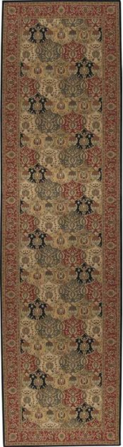 HARD TO FIND SIZES GRAND PARTERRE PT04 MULTI RECTANGLE RUG 6' x 22'6''