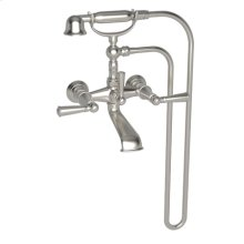 Satin Nickel - PVD Exposed Tub & Hand Shower Set - Wall Mount