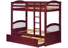 Triplet Mahogany Twin/Twin Bunk Bed w/ Trundle