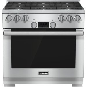 Miele Hr 1134-1 Lp - 36 Inch Range All Gas With Directselect, Twin Convection Fans And M Pro Dual Stacked Burners