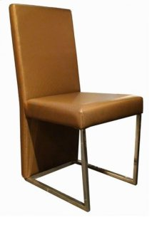 A&X 0099 Modern Gold Leatherette Dining Chair