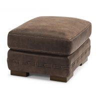 Buxton Leather Ottoman Product Image