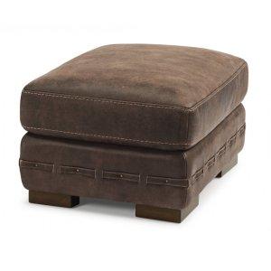 FLEXSTEELBuxton Leather Ottoman