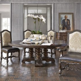 "Castilian Round Dining Table - 74"""