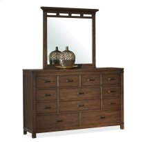Promenade Ten Drawer Dresser Warm Cocoa finish