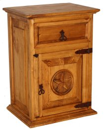 1 Drawer 1 Door Night Stand W/star