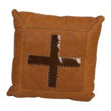 Cowhide Cross Leather Cushion
