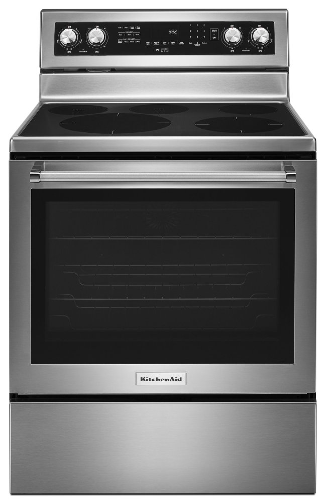 Kitchenaid 30 Inch 5 Element Electric Convection Range Stainless Steel