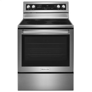 Kitchenaid30-Inch 5-Element Electric Convection Range - Stainless Steel