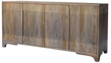 Bengal Manor 2 Tone Grey Mango Wood 4 Door Sideboard