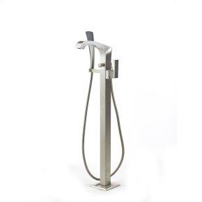 Satin Nickel Hudson (Series 14) Single Supply Floor Tub Filler