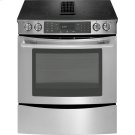 "30"" Slide-In Electric Downdraft Range with Convection, Euro-Style Stainless Handle Product Image"