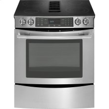 """30"""" Slide-In Electric Downdraft Range with Convection, Euro-Style Stainless Handle"""