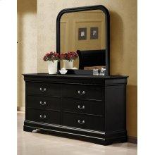 Louis Philippe Black Six-drawer Dresser