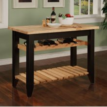 Color Story Black Butcher Block Gathering Island