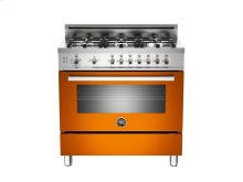 36 6-Burner, Gas Oven Orange